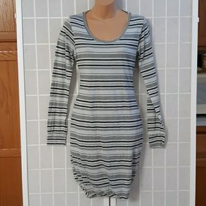 $116 NWT STATESIDE Striped Fitted Pullover Dress